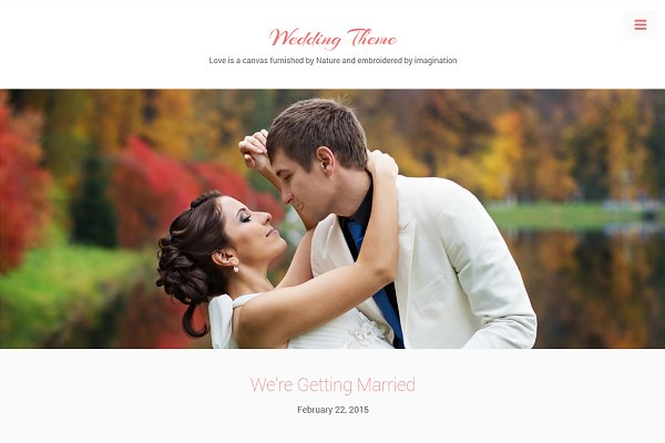 WordPress Wedding Themes: DesignOrbital - Wedding Theme
