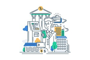 Successful Businessman Illustration