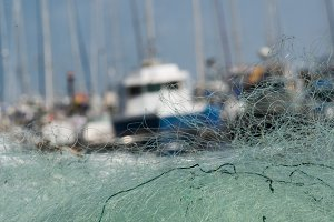 Fishing Nets and Boats