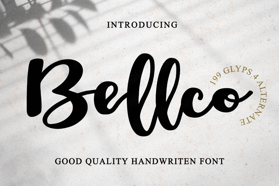 Bellco -Classic fonts
