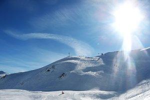 ski slope landscape