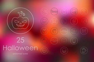 25 Halloween icons