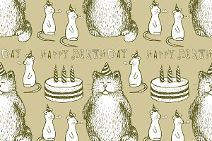 Sketch Birthday pattern