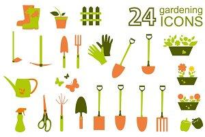 Gardening clip art set