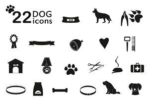 Dog  flat icons