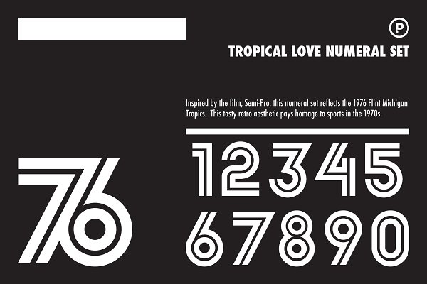 Tropical Love Numeral Set