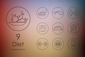 9 diet icons