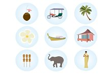 Thailand colorful icons