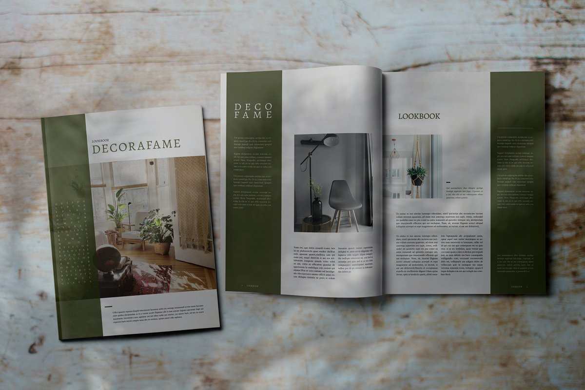 Decorafame Lookbook Magz Template in Magazine Templates - product preview 8