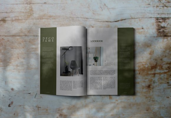 Decorafame Lookbook Magz Template in Magazine Templates - product preview 1