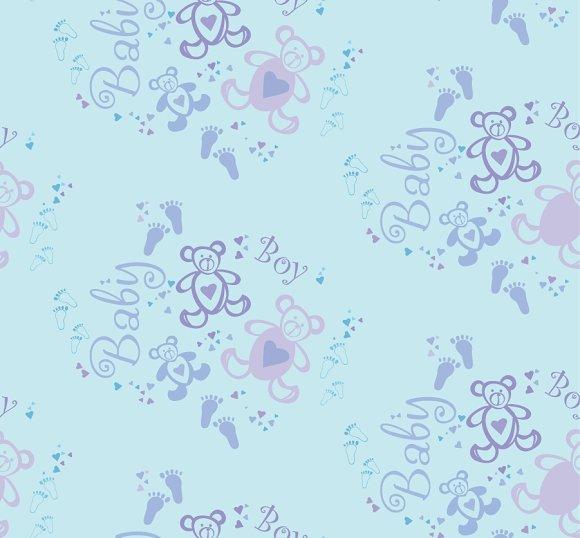 Seamless Baby Pattern Its A Boy Graphic Patterns Creative Market
