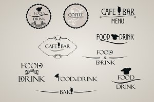 Food and Drink Label set
