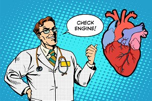 Check engine doctor medicine heart