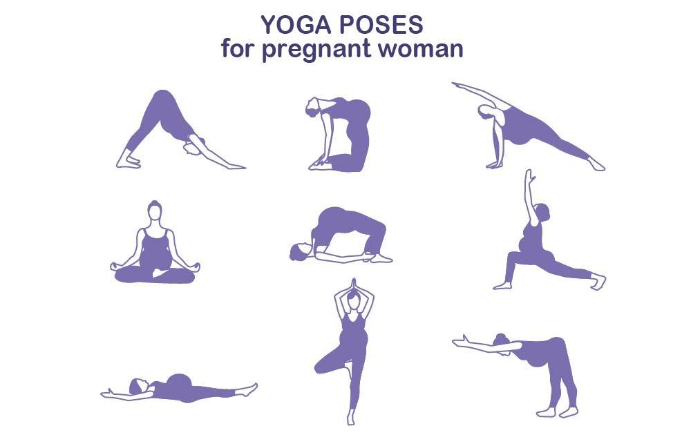 Yoga poses for pregnant women ~ Graphics ~ Creative Market