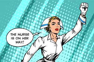 Super hero nurse flies to the rescue