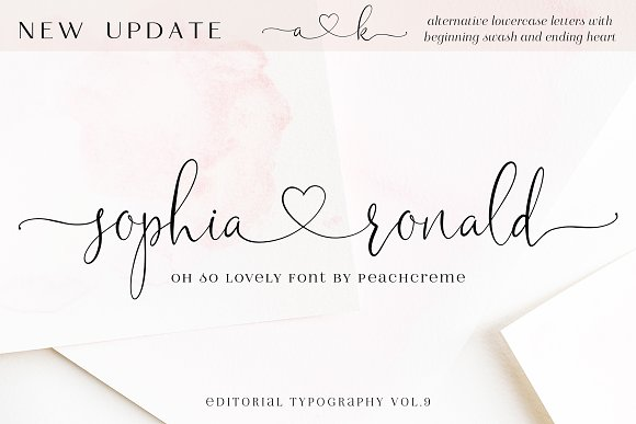 Sophia Ronald // Lovely Script Font in Script Fonts - product preview 20