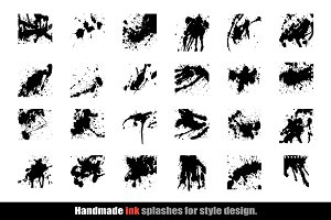 Handmade Ink Splashes