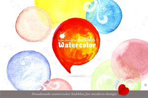 Handmade watercolor splashes