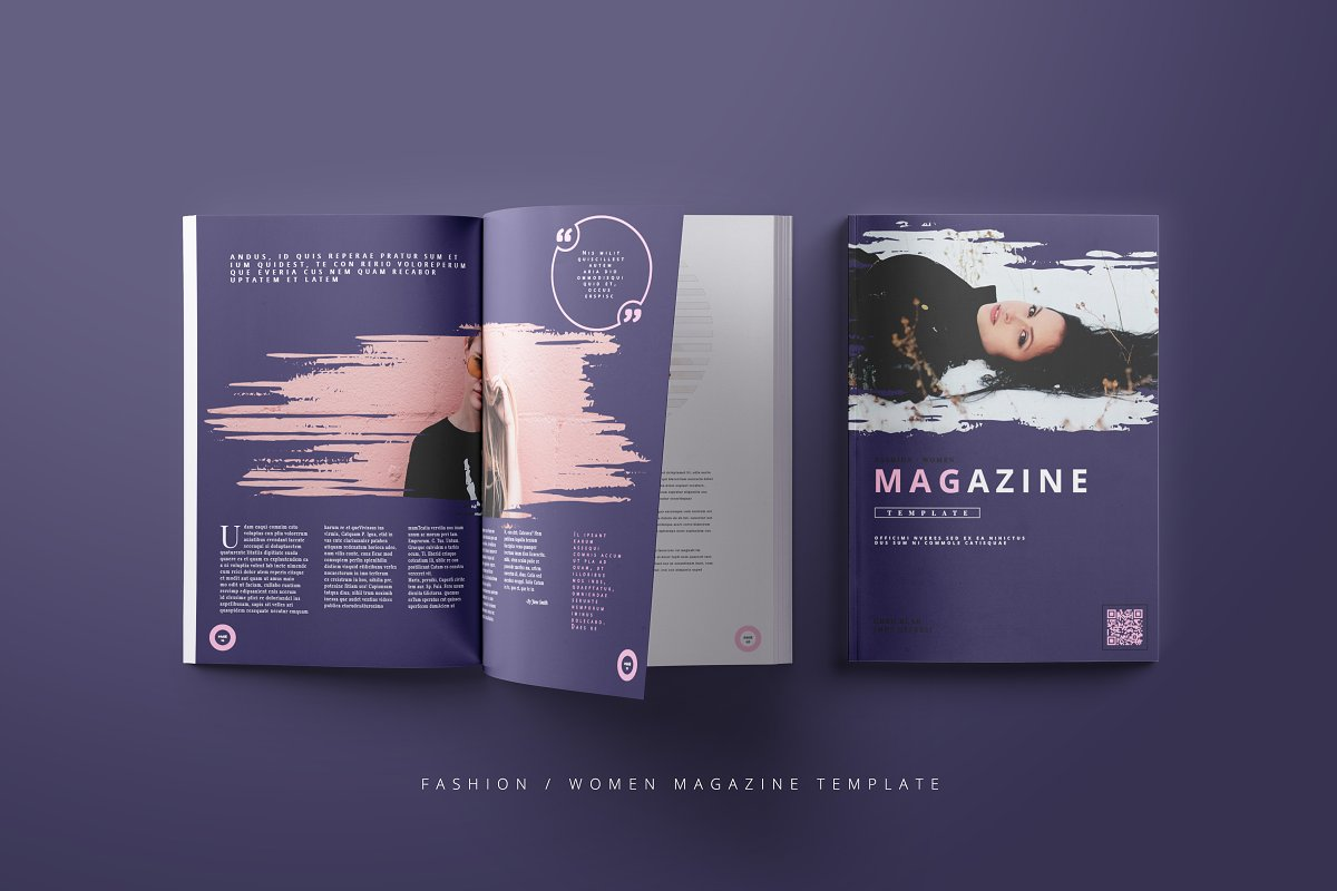 Fashion / Women Magazine Template in Magazine Templates - product preview 8