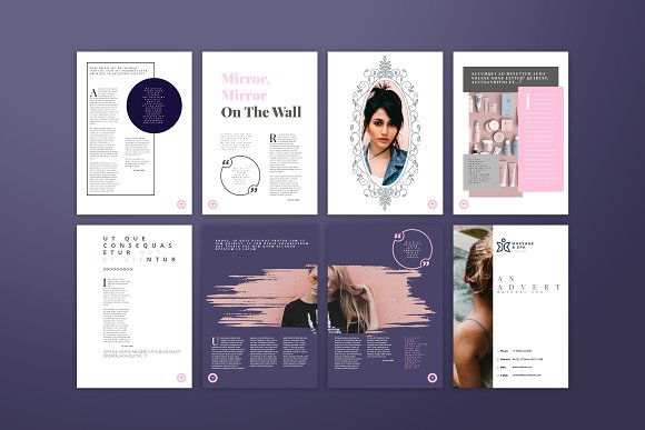 Fashion / Women Magazine Template in Magazine Templates - product preview 2