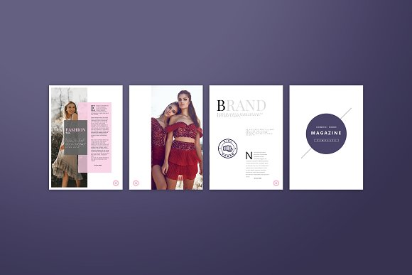 Fashion / Women Magazine Template in Magazine Templates - product preview 3