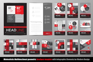 Abstract geometric brochure template
