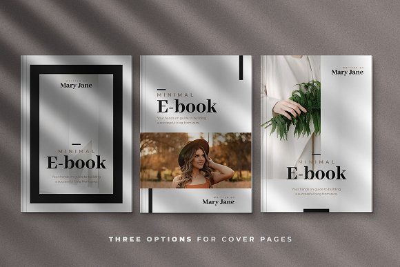 Minimal Ebook Templates For Canva in Magazine Templates - product preview 2