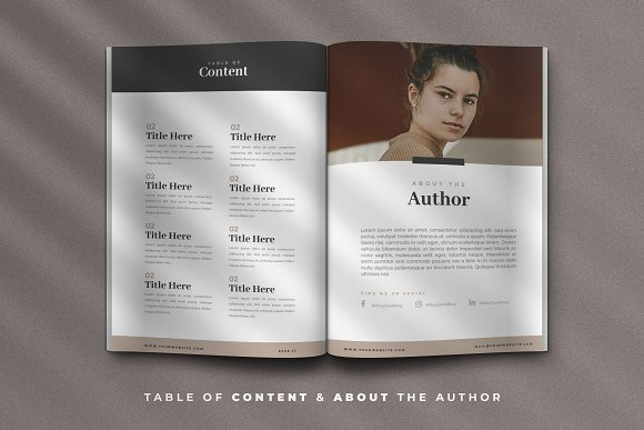 Minimal Ebook Templates For Canva in Magazine Templates - product preview 3