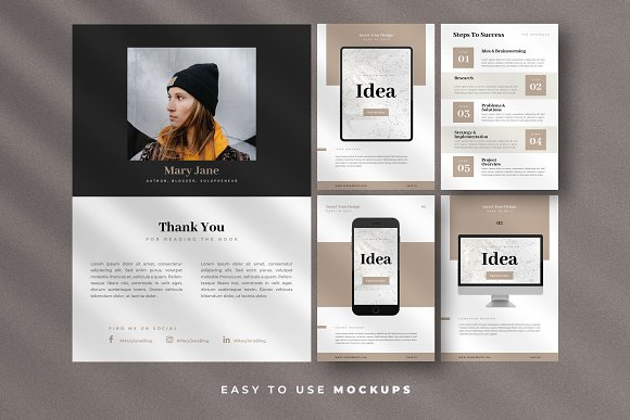 Minimal Ebook Templates For Canva in Magazine Templates - product preview 4
