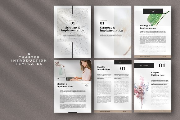 Minimal Ebook Templates For Canva in Magazine Templates - product preview 5