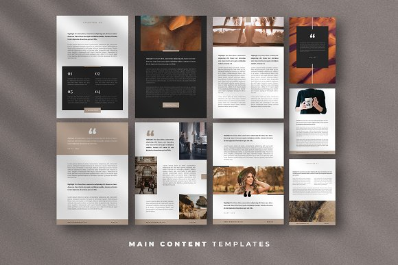 Minimal Ebook Templates For Canva in Magazine Templates - product preview 6