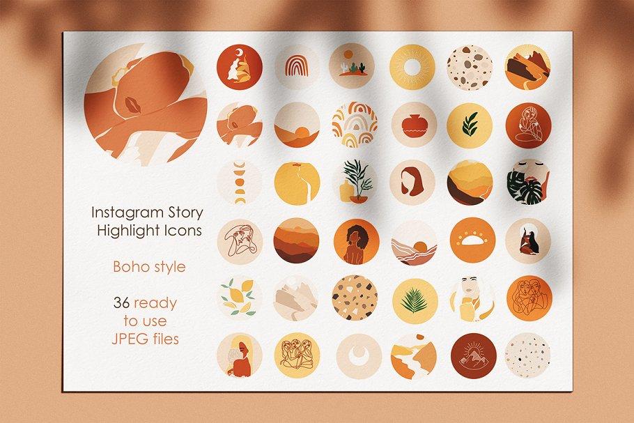 Instagram Story Highlight Icons Boho