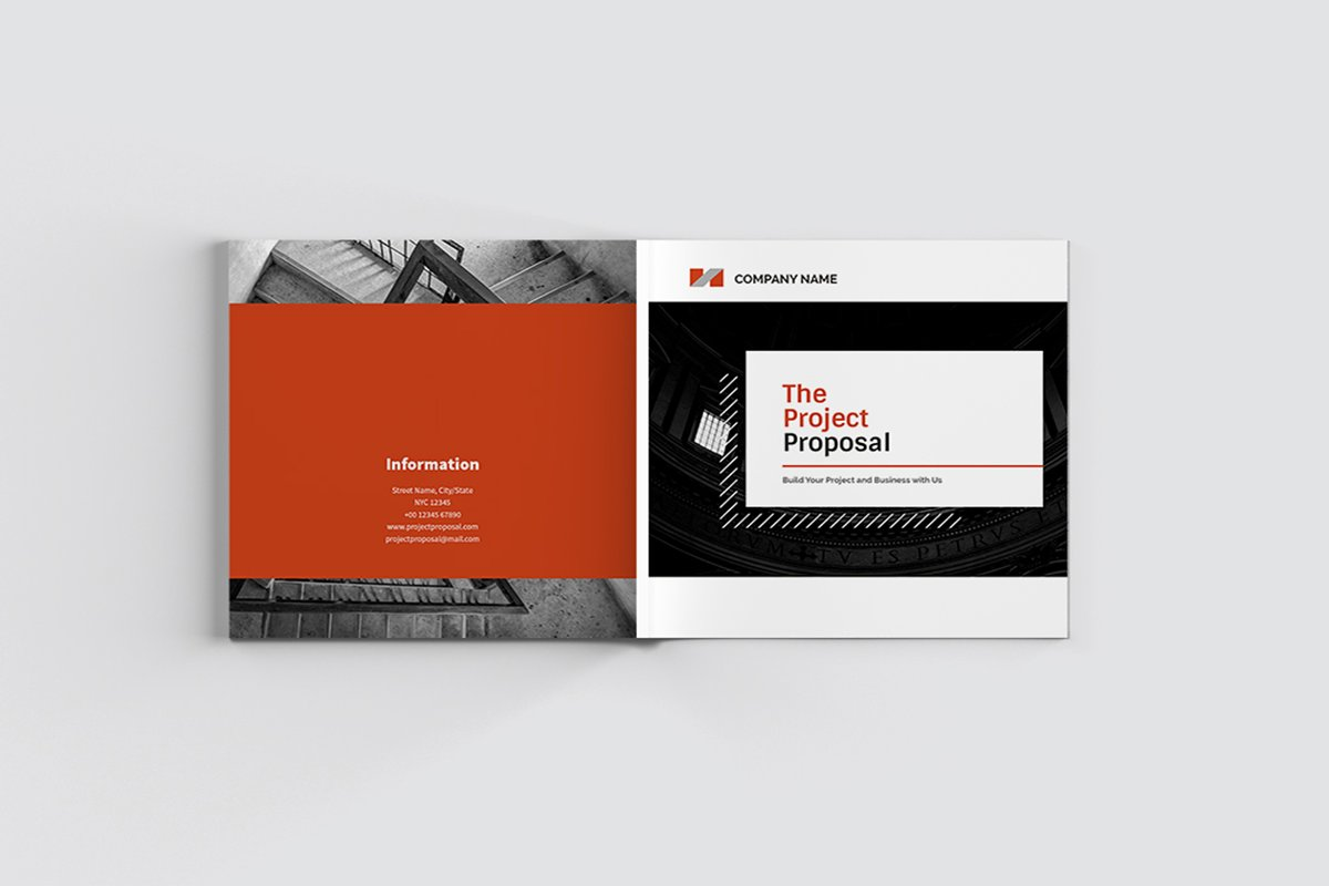 The Project Company Profile in Magazine Templates - product preview 8
