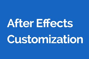 Basic After Effects Customization