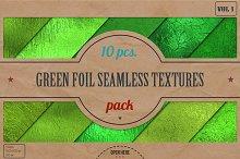Green Foil Textures Pack v.1