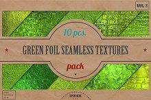 Green Foil Textures Pack v.2