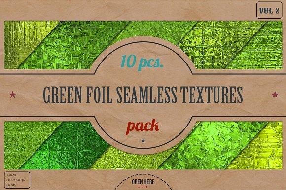 Green Foil Textures Pack v.2 - Textures