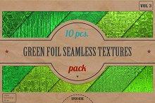 Green Foil Textures Pack v.3