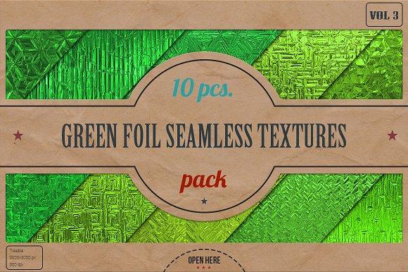 Green Foil Textures Pack v.3 - Textures