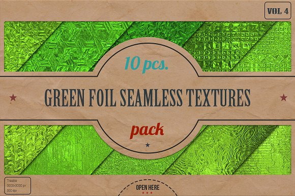 Green Foil Textures Pack v.4 - Textures