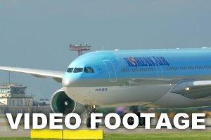 Passenger airplane passing