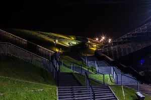 Illuminated stairs and lawns 1