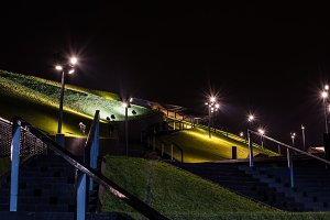 Illuminated stairs and lawns 2
