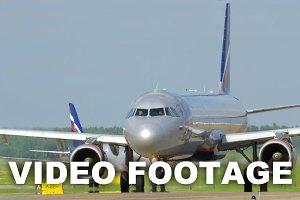 Aeroflot airplane on runway