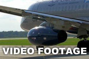 Moving Aeroflot passenger plane