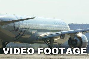 Passenger Jet Making a Turn