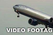 Aeroflot passenger plane taking off