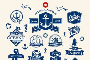Nautical vector Baget Collection