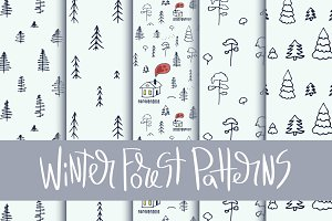 5 Winter Forest Patterns