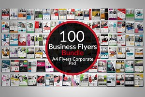 100 Creative Business Flyers Bundle